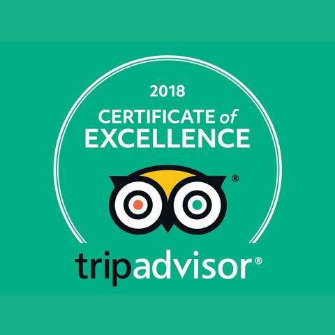 Horsham Tandoori Tripadvisor Certificate of Excellence 2018