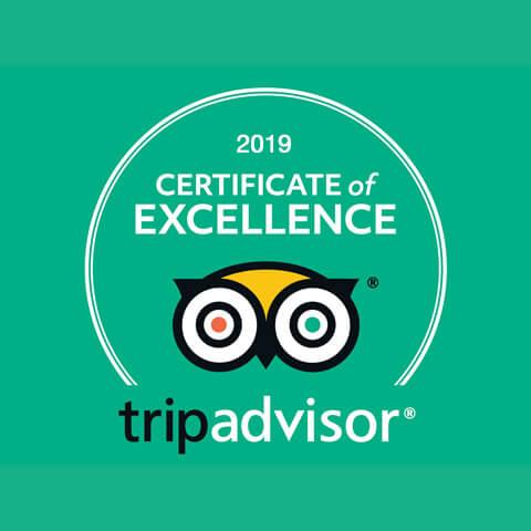 Horsham Tandoori Tripadvisor Certificate of Excellence 2019